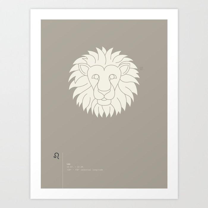 Leo Star Sign Art Print
