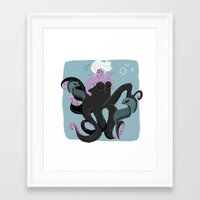 ursula Framed Art Prints featuring Ursula by gabby ramirez