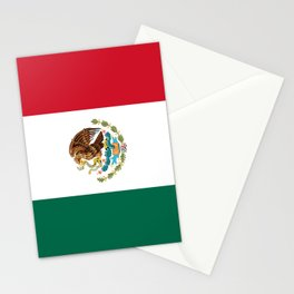 The Mexican national flag - Authentic high quality file Stationery Cards