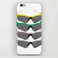 tour de france iPhone & iPod Skins featuring Tour de France Glasses by Pedlin