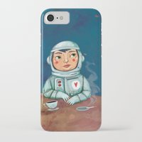 spaceman iPhone & iPod Cases featuring Spaceman by Milena Milak