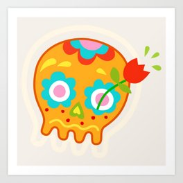 Cute Sugar Skull Day of the Dead Art Print