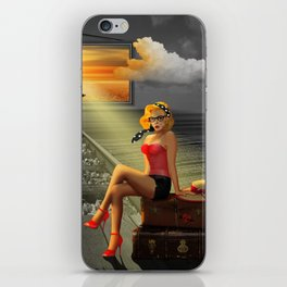 Longing for holidays and sun iPhone Skin