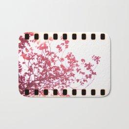 Holga x-processed pink spring tree Bath Mat