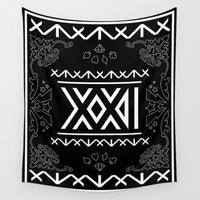 roman Wall Tapestries featuring 2NE1 - Roman Numeral Motif by Betwixt