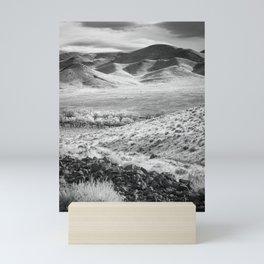 High desert on northern Nevada in black and white Mini Art Print