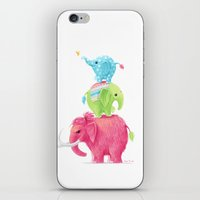 elephants iPhone & iPod Skins featuring Elephants by Freeminds