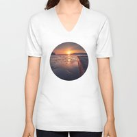 rowing V-neck T-shirts featuring December 2 by HappyMelvin