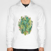 cacti Hoodies featuring Cacti by Gaby D'Alessandro