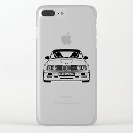 old school Clear iPhone Case
