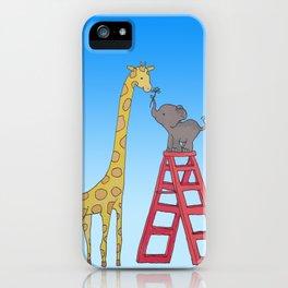 Uneven height love iPhone Case