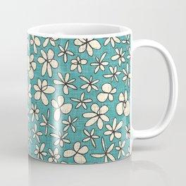 garland flowers blue Coffee Mug