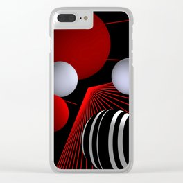 converging lines -4- Clear iPhone Case
