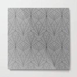 Art Deco in Black & Grey Metal Print