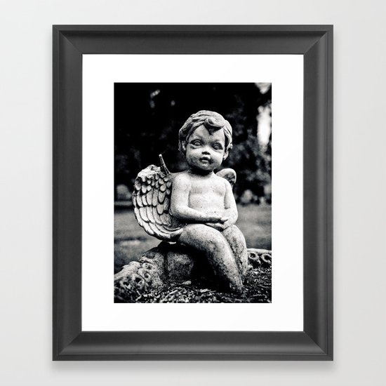 Forgotten angel Framed Art Print