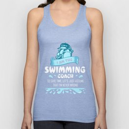 Swimming Coach Shirts Swimming Clothes Swim Coach Gift Ideas Unisex Tank Top