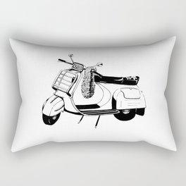 Ink Drawing | Bali Scooter Rectangular Pillow