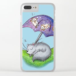 April Snooze Clear iPhone Case