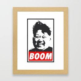 Boom (Kim Jong Un) Framed Art Print