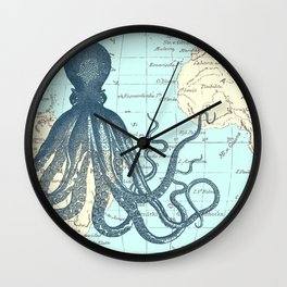 Map Octopus Wall Clock