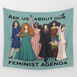 Feminist Agenda Wall Tapestry