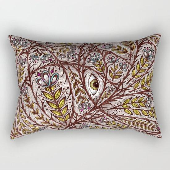 Golden Eye Rectangular Pillow