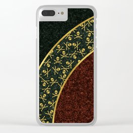 Skull Curve Clear iPhone Case