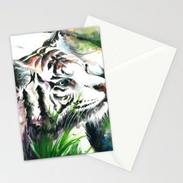 WHITE TIGER WATERCOLOR Stationery Cards