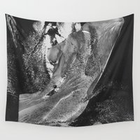 naked Wall Tapestries featuring Naked Girl by Liaison Érotique
