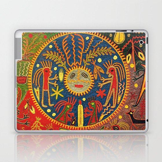 Peyote Sun Ritual Huichol Laptop & iPad Skin