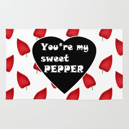 You are my sweet peppers. Humor . Rug