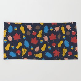 Autumn story Beach Towel