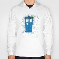 tardis Hoodies featuring blue box by Matthew Taylor Wilson