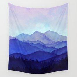 Blue Morning Wall Tapestry