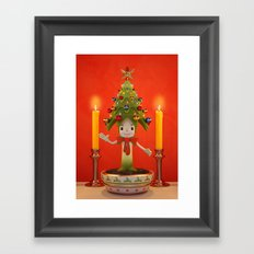 Little Christmas Tree Framed Art Print