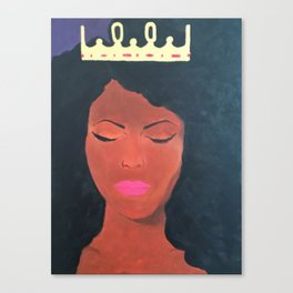 Chin Up Crown On Canvas Print