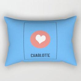 I Love Charlotte Rectangular Pillow