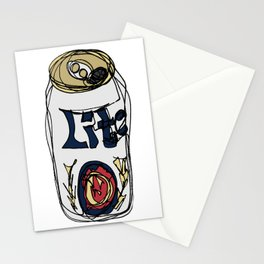 Miller Lite Can Stationery Cards