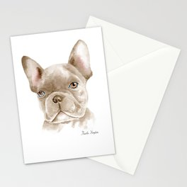 WATERCOLOR FRENCH BULLDOG / FRENCHIE Stationery Cards