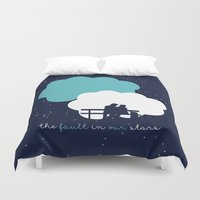 the fault Duvet Covers featuring The Fault In Our Stars by laurenschroer