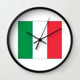 Italian flag-Italy,Italia,Italian,Latine,Roma,venezia,venice,mediterreanean,Genoa,firenze Wall Clock