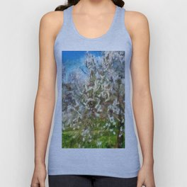 Almond Orchard Blossom Unisex Tank Top