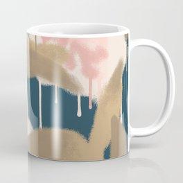 Large Spray Paint Flowers Coffee Mug