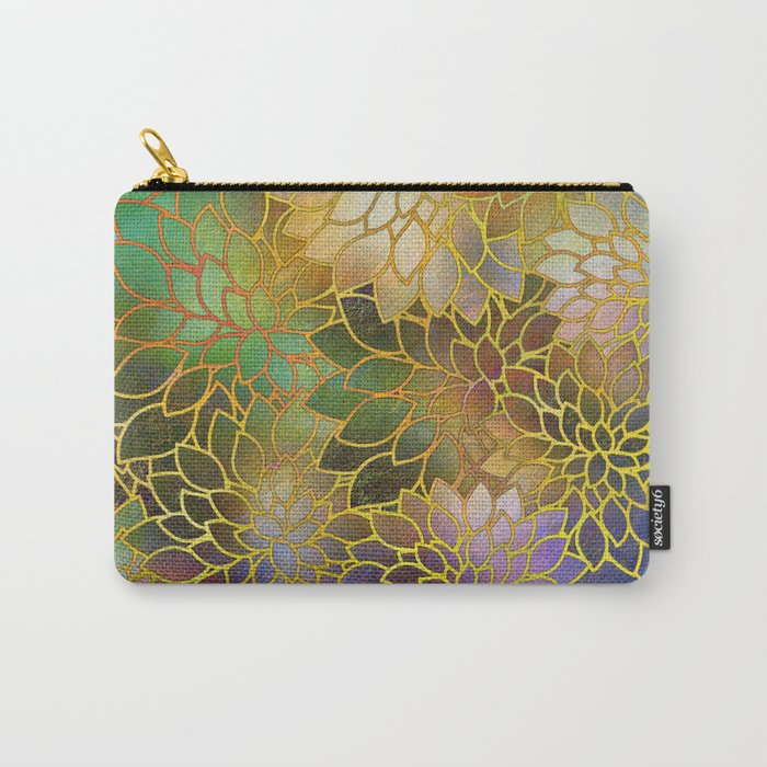 Floral Abstract 3 Carry-All Pouch