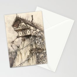 Steampunk House Stationery Cards