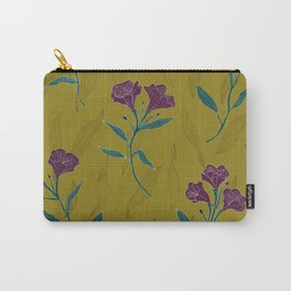 Linear Lily - Mustard Carry-All Pouch