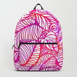 Leaves abstract pattern Backpack
