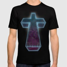 The Black Cross of Justice Black SMALL Mens Fitted Tee