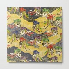 Oriental wagon pattern vintage Metal Print