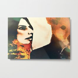 """She loved him, even though he didn't say so much"" Metal Print"